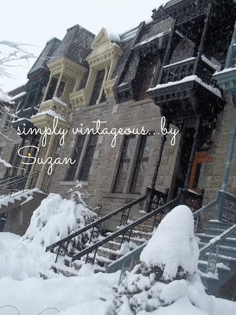 Westmount, Montreal, Spring, Snow, Heritage Home Fronts,