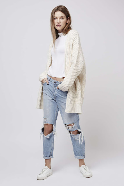 cream rib cardigan, topshop cream oversized cardigan,
