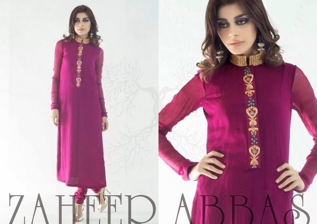 Zaheer Abbas Eid Collection 2014 wwwfashionhuntworldblogspot 11  - Zaheer Abbas Eid Collection 2014 For Women