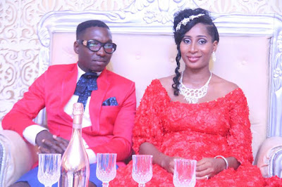 Baba Funky and wife Nelly at wedding