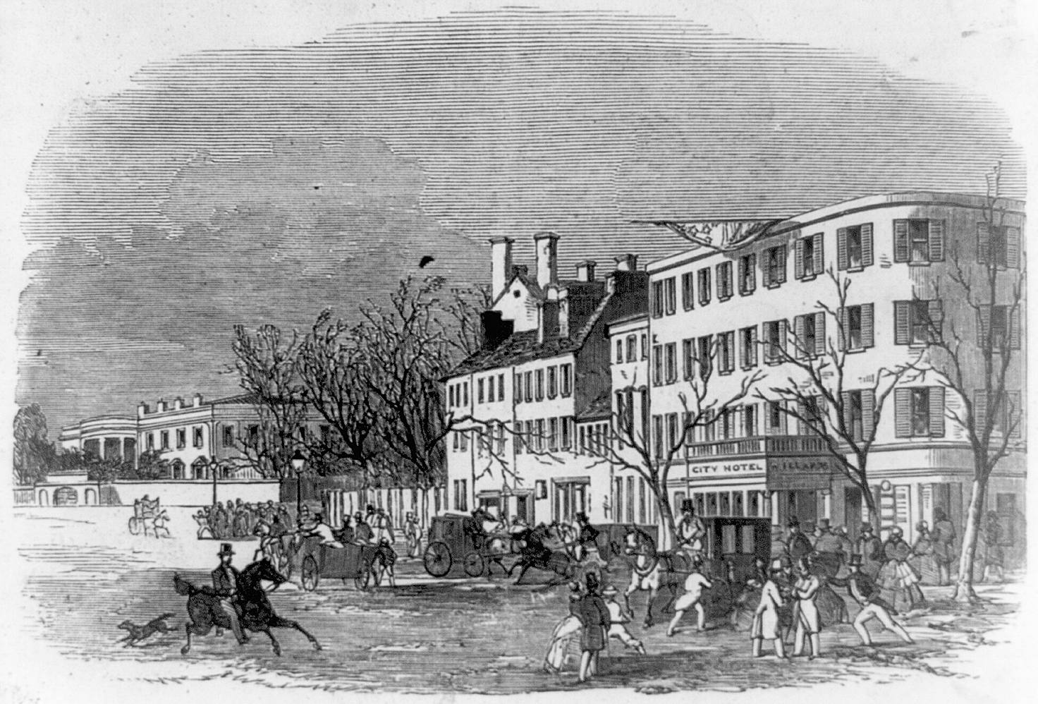 19th century home funeral before the turn of the century - Early View Of Pennsylvania Avenue With The City Hotel On The Right Source Library Of Congress