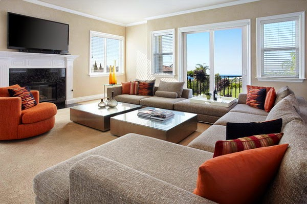 Modern Living Room with Furniture Style   Home Decorating Ideas
