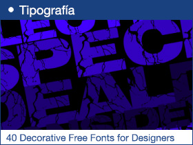 40 Beautiful Decorative Free Fonts for Designers