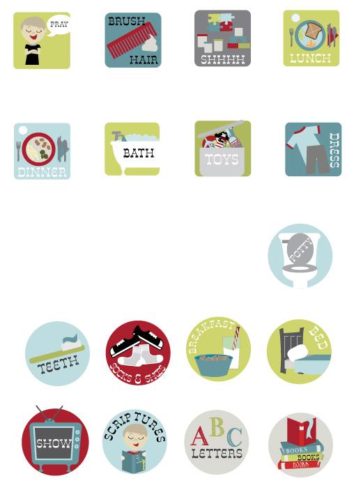 Peewee prints children s chore chart