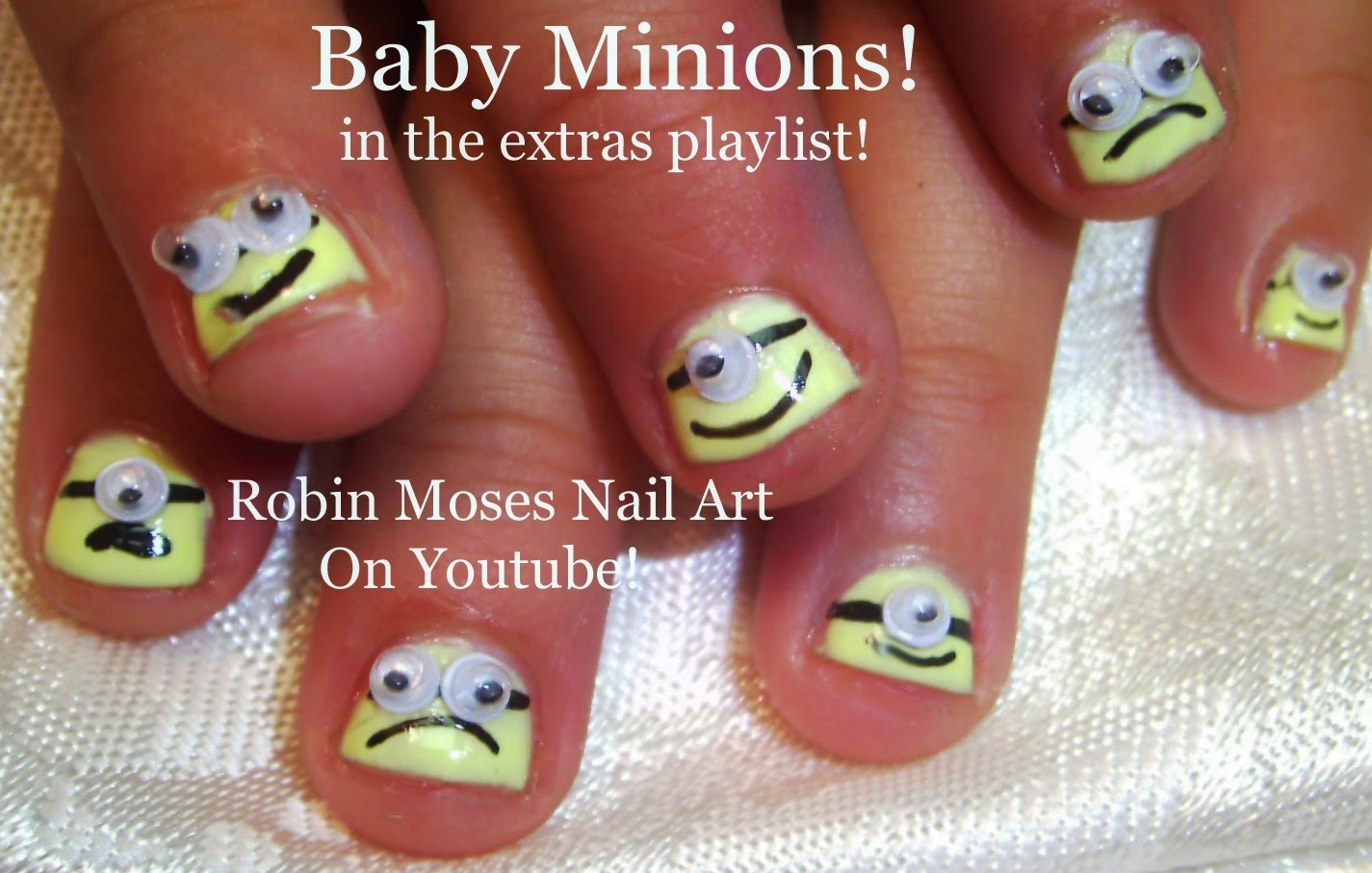 Nail Art By Robin Moses Minion Nails Minion Nail Art Minion