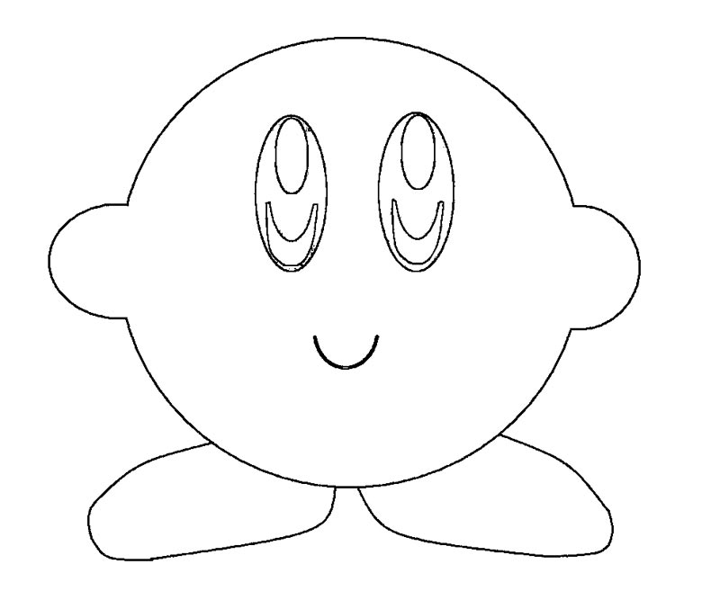 Kirby free colouring pages for Nintendo kirby coloring pages to print
