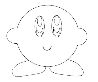 #23 Kirby Coloring Page