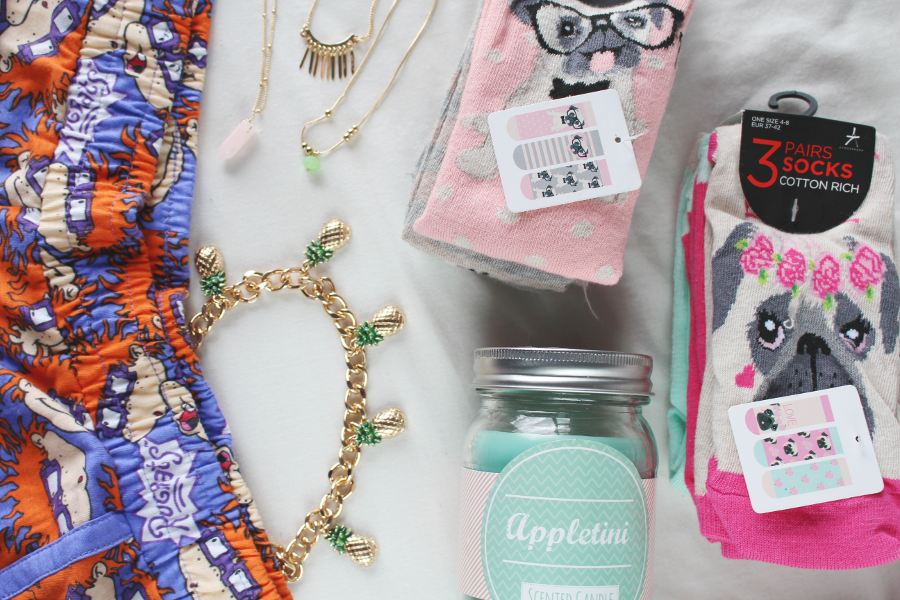 may 2015 primark haul, blogger primark haul, primark pineapple necklace, primark pug socks