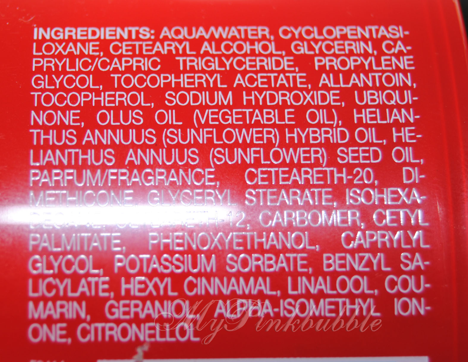 Rituals Rituals Touch of Light ingredientes