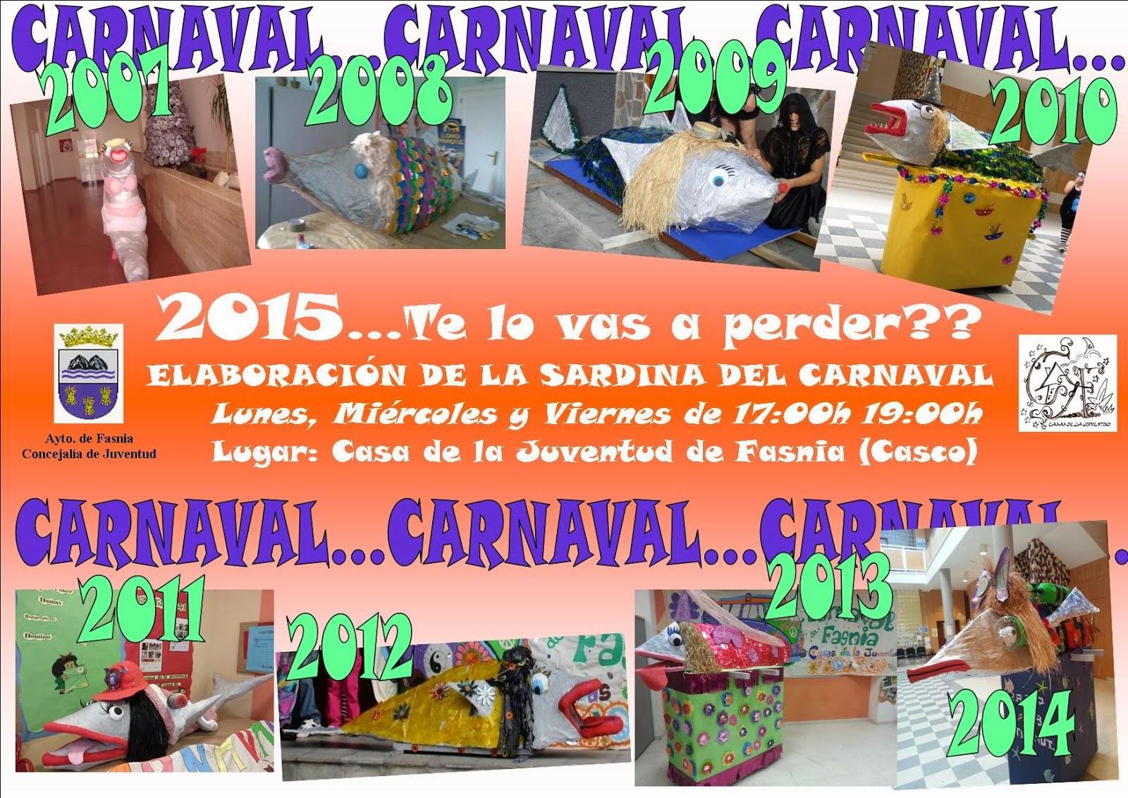 ELABORACIÓN DE LA SARDINA DEL CARNAVAL 2015