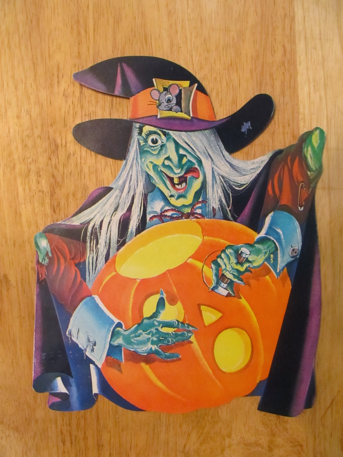 Vintage halloween paper decorations - Vintage Paper Halloween Decorations