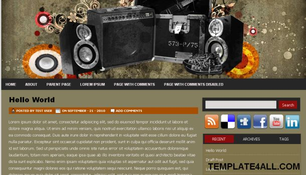 Music Grunge Magazine Wordpress Theme