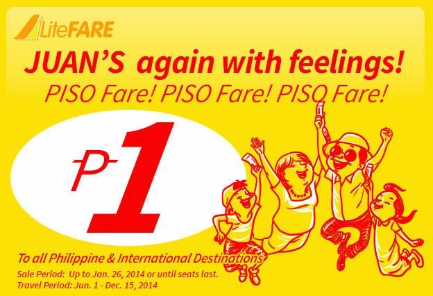 Cebu Pacific, Cebu Pacific Air Piso Fare, Piso Fare