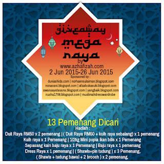 Giveaway Mega Raya by Azhafizah.com