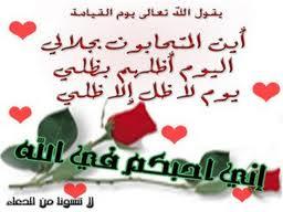 اني أحبكم في الله