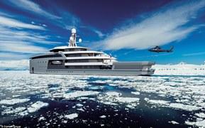 Η Damen είπε στους πιθανούς αγοραστές ότι το σκάφος είναι ασφαλές να σπάσει τον πάγο χάρη στο μοναδικό σχεδιασμό του κύτους.