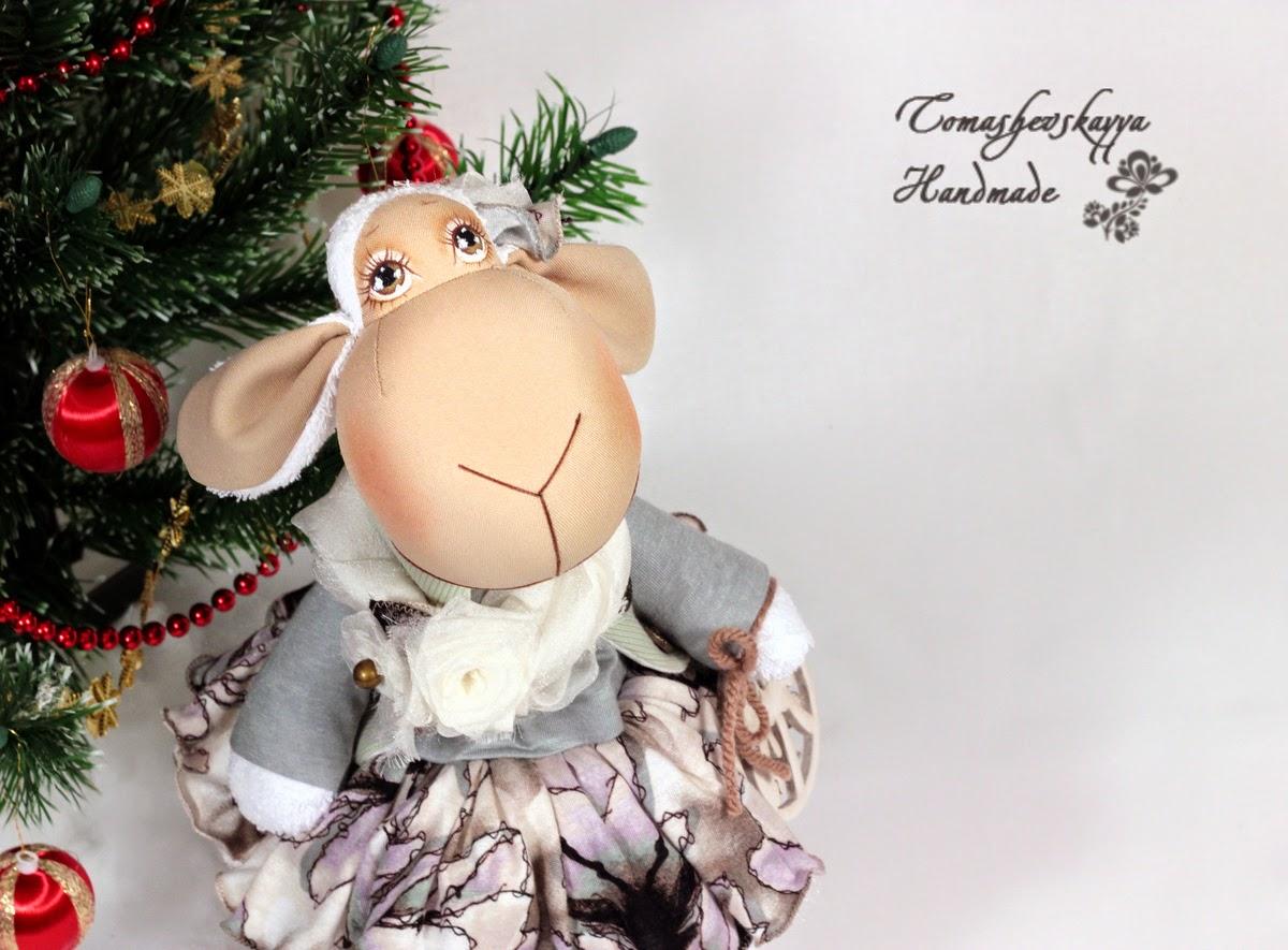 Картинка овечка тильда красивая в платье