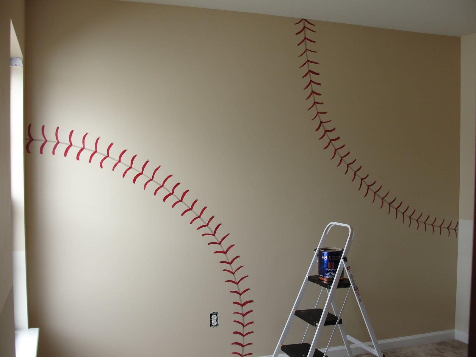 This diy house inspiration for vintage baseball and for Baseball scoreboard wall mural