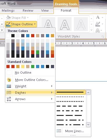 Cara Membuat Garis Putus Putus Di Microsoft Word Cara