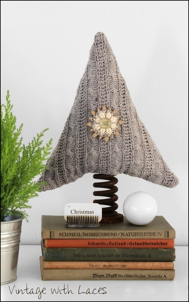 Upcycled Sweater Christmas Tree