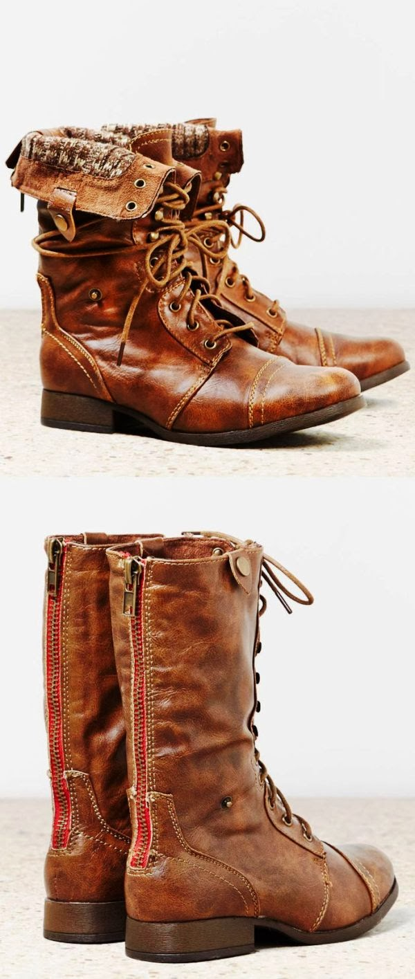 American eagle lace up leather boots fashion