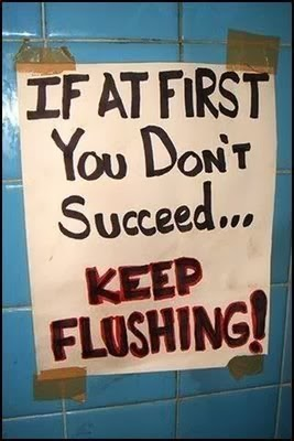 Notice to the public keep flushing