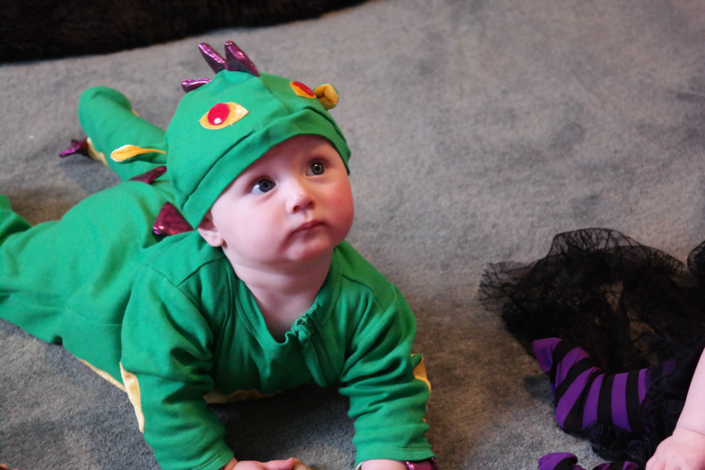 Matilda's first Halloween: Dragon costume