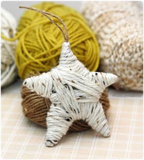DIY estrella con lana