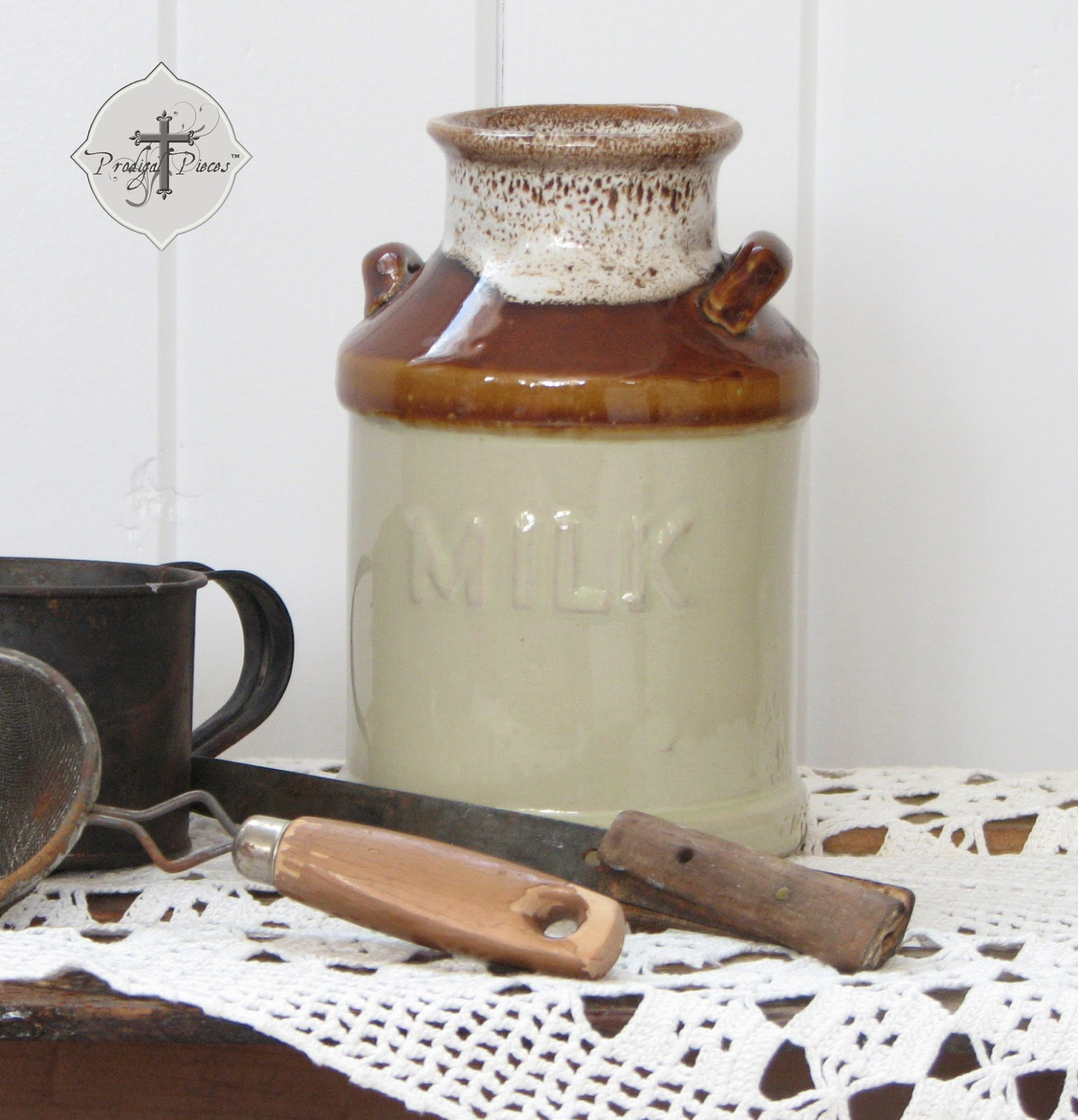 Hand-crafted Milk Can Crock via Prodigal Pieces