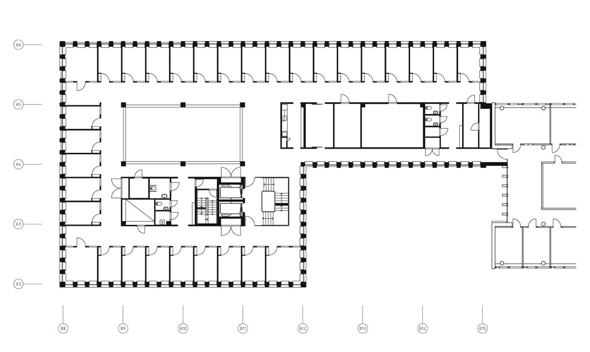 Skellefte kraft office building by general architecture for House plans with separate office entrance