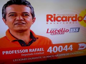 Vídeo com a fala do professor Rafael da UFCG, no Guia Eleitoral
