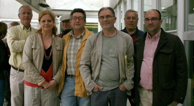 Con miembros de la plataforma de la sanidad publica