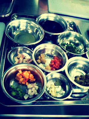 prepared ingredients mise en place