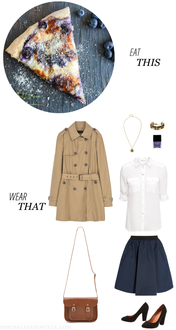 Sprinkles and Style || Eat This, Wear That: Blueberry Pizza