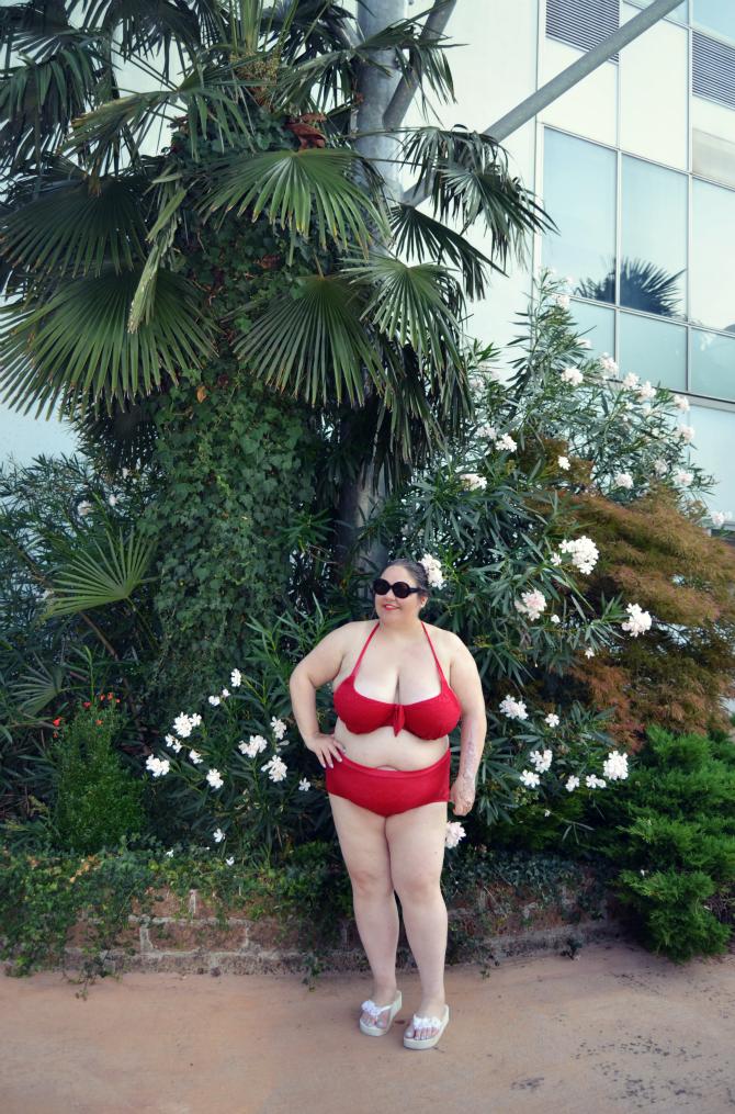 bikini plus size swimsuitsforall in crochet rosso