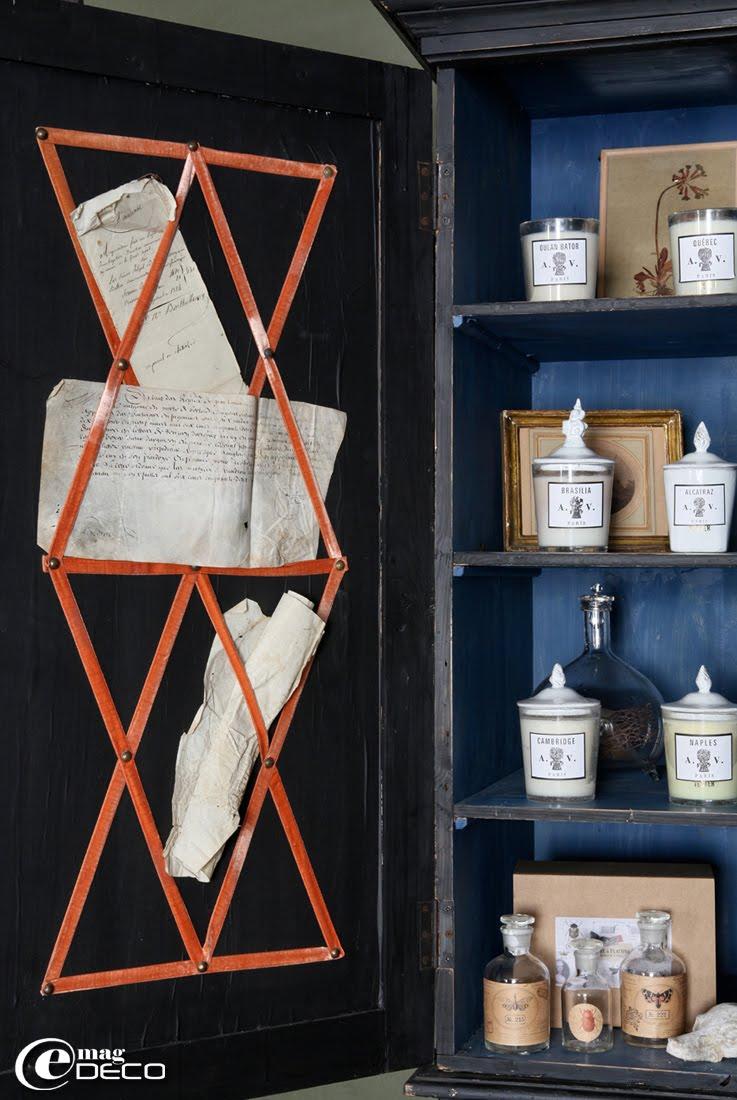 Bougies Astier de Villate et flacons en verre Maison Caumont