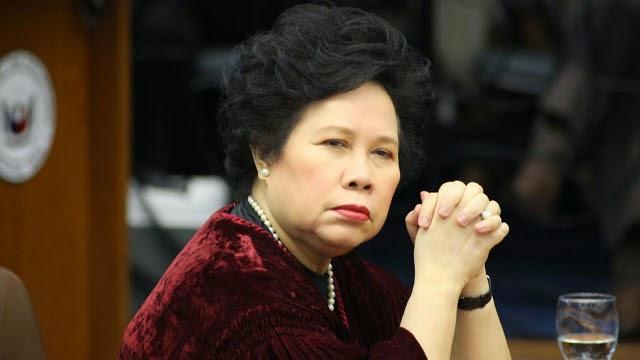 Senator Miriam Santiago has lung cancer