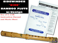 SPECIAL SIDEWINDER BAMBOO FLUTE KEY OF G