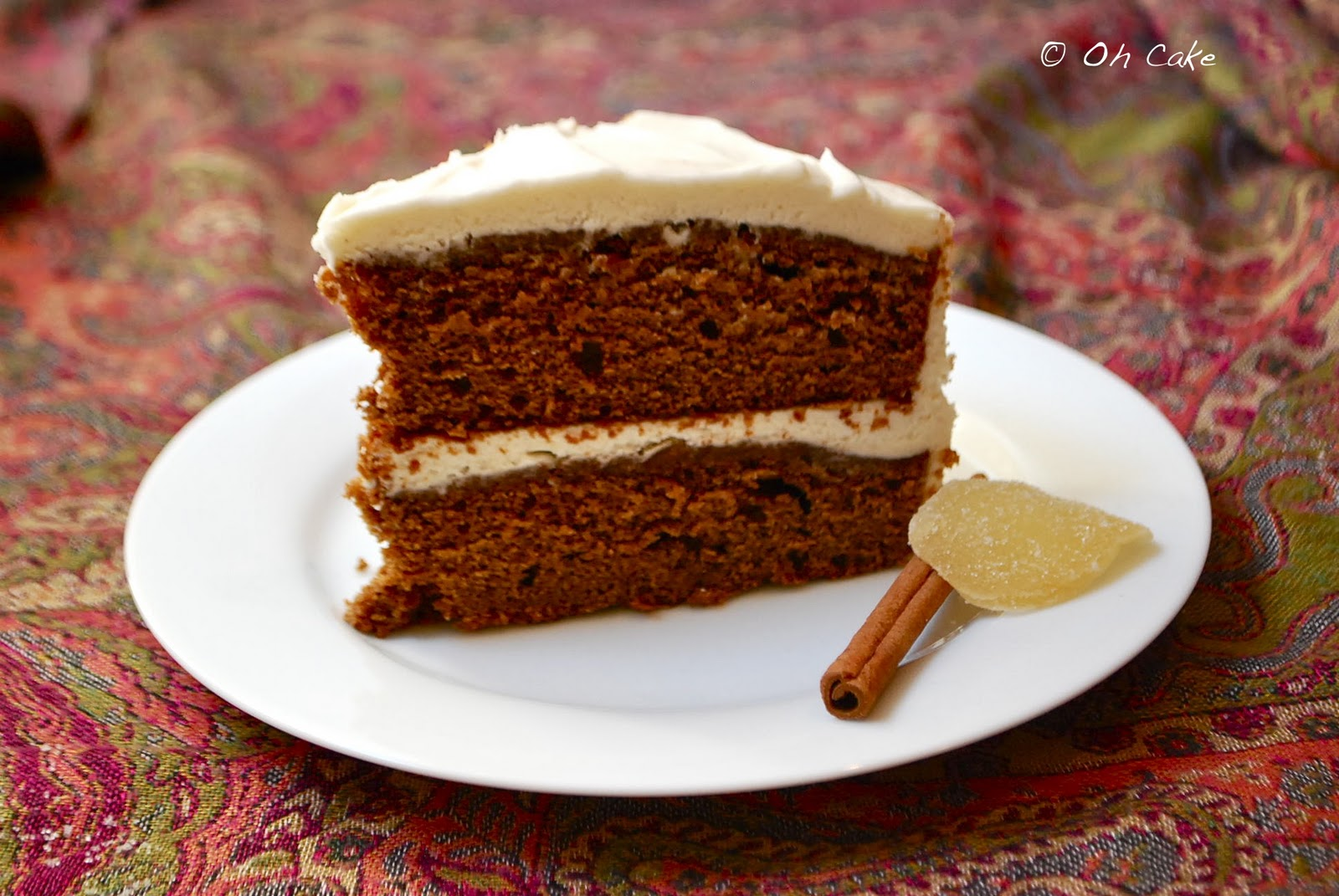 Gingerbread Cake with Cream Cheese Frosting ~ serves 8-12