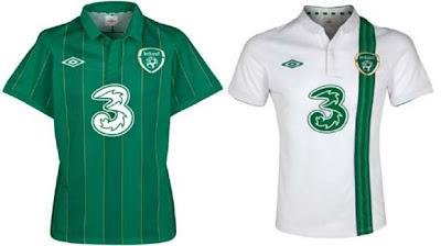 jersey republik Irlandia untuk Piala Eropa 2012