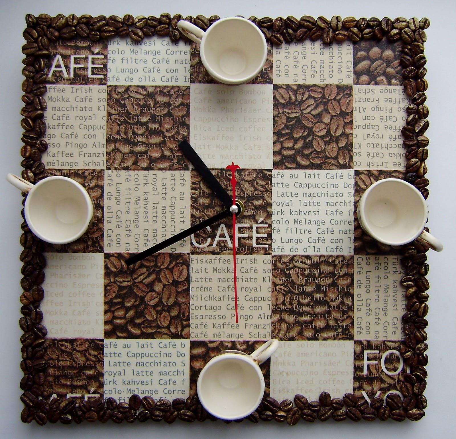Часы в кофейном стиле своими руками 52