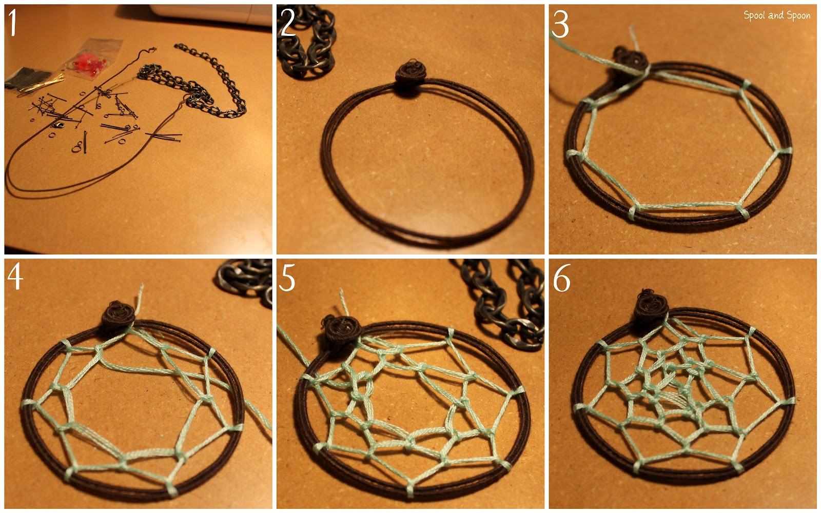 Instructions on how to make a dream catcher picture - Instructions On How To Make A Dream Catcher Picture 7