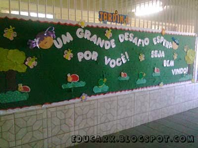 Mural volta as aulas