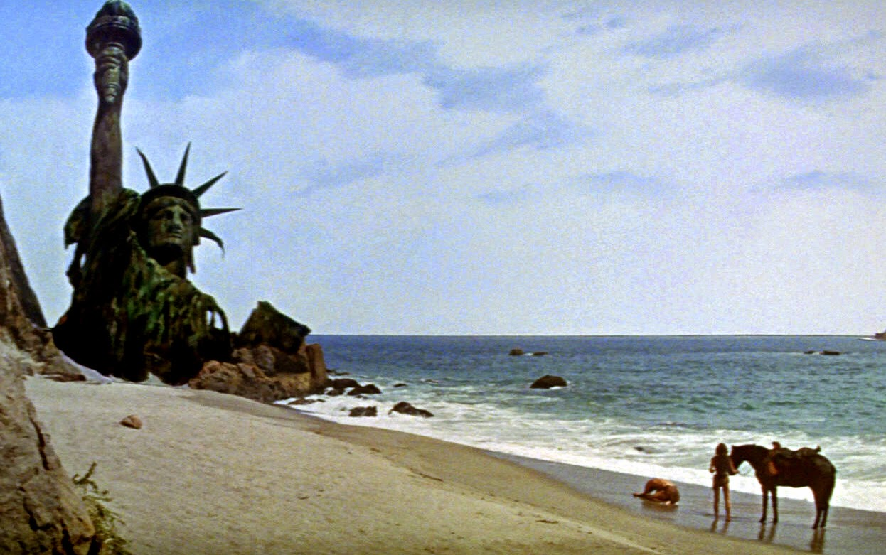 The original Planet of The Apes 1968 final scene... that's how I felt... LoL