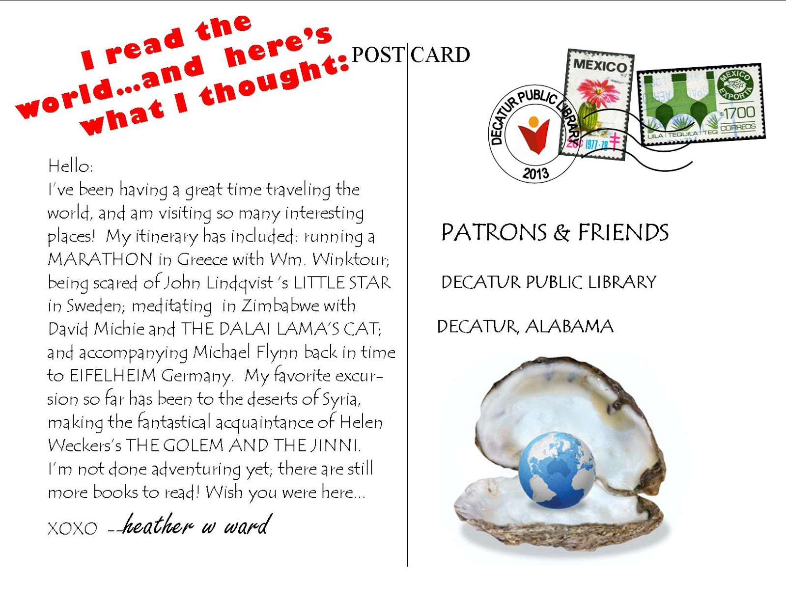Postcards: A Reading Challenge Update