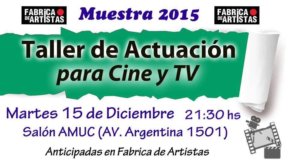 MUESTRA TALLERES ACTUACION CINE Y TV