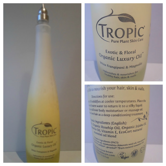 Tropic Organic Luxury Oil - White Frangipani & Magnolia