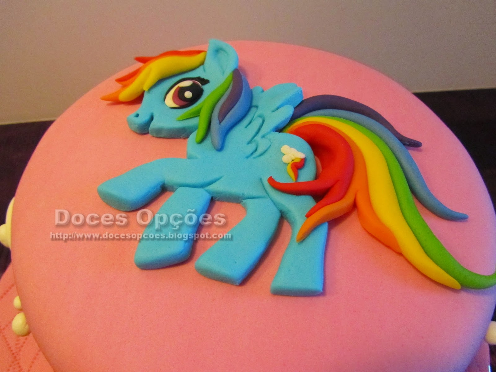 Bolo My Little Pony pasta americana