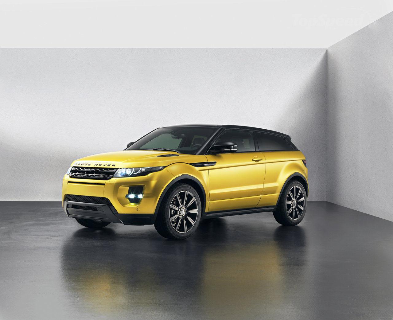 auto 2013 Range Rover Evoque Sicilian Yellow Edition