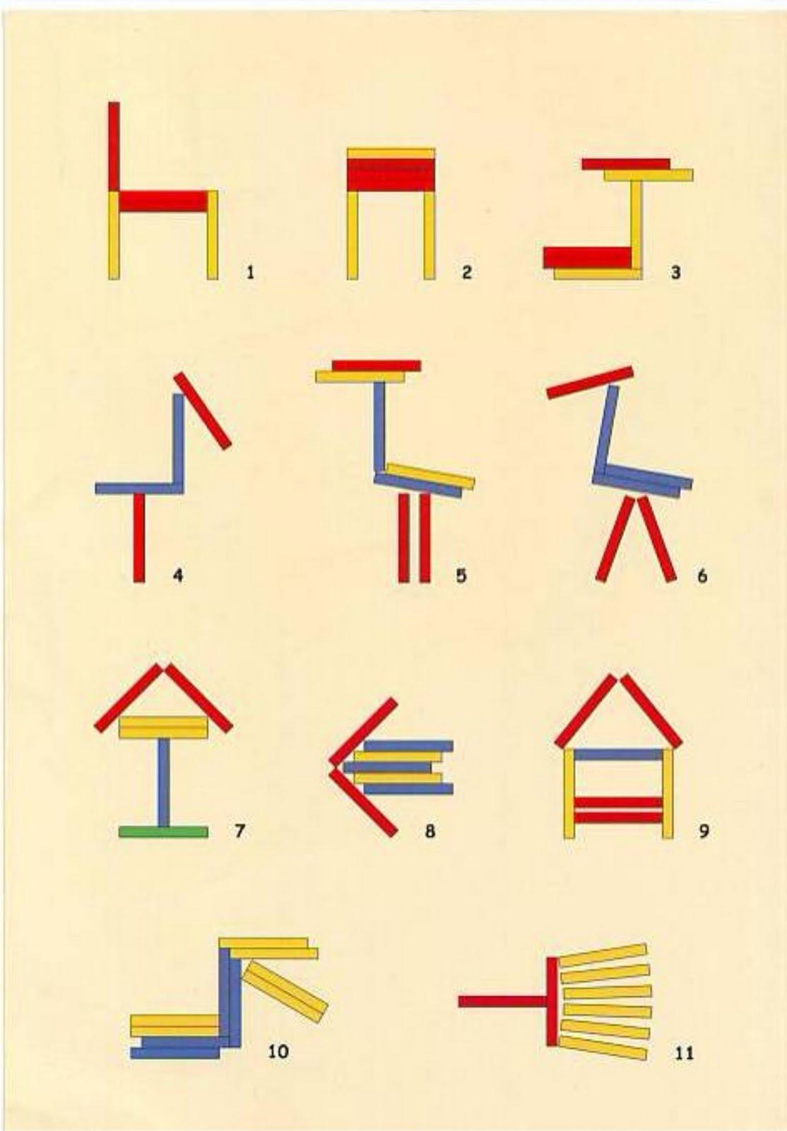 Схемы для палочек счетных для печати